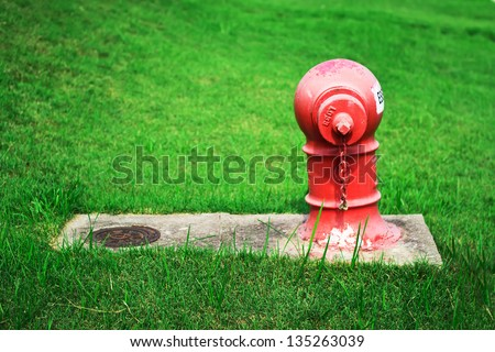 hydrant used for water injection. When the fire. - stock photo