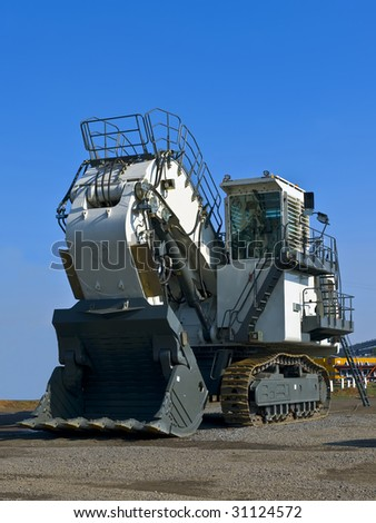 Hydraulic dredge - stock photo