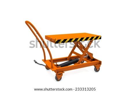 Hydraulic pallet truck - stock photo