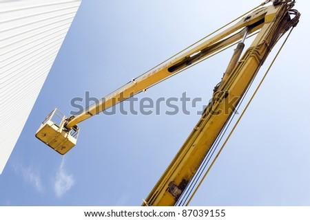 hydraulic pressure lift platform - stock photo