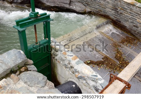 Hydraulic supply of hydroelectric plant - stock photo