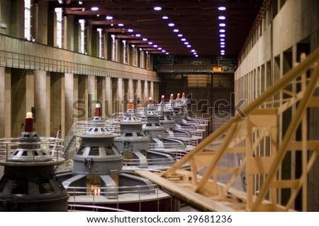 Hydro-Electric Generators - stock photo