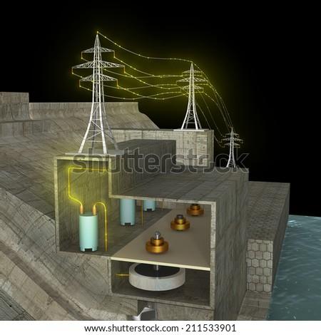 Hydro power - stock photo