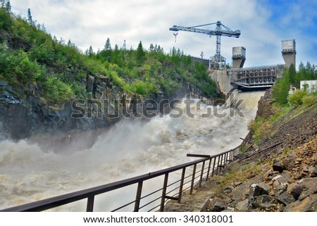 hydro power plant - stock photo