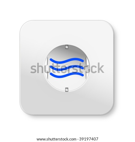 Hydroelectric power outlet with a symbolic representation of water - stock photo