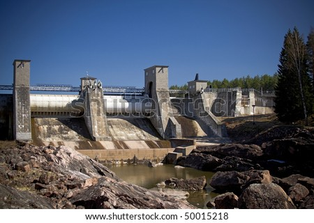 Hydroelectric power station in Imatra, Finland