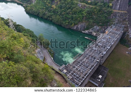 Hydroelectric power station in Thailand. - stock photo