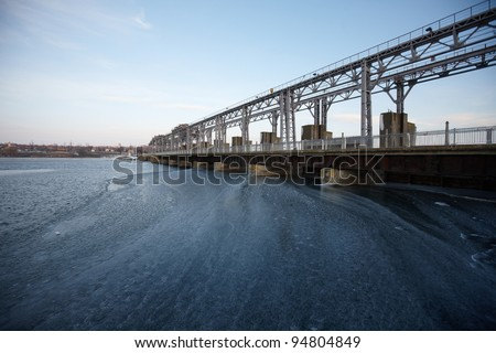 Hydroelectric pumped storage power plant - stock photo