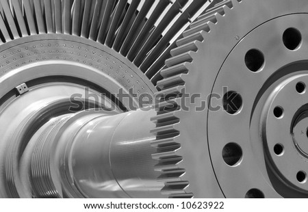 Hydroelectric turbine for generating power - stock photo
