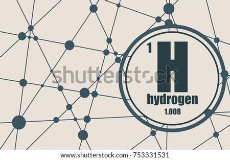 Hydrogen chemical element sign atomic number stock illustration hydrogen chemical element sign with atomic number and atomic weight chemical element of periodic urtaz Choice Image