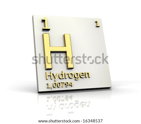 Hydrogen form Periodic Table of Elements - stock photo