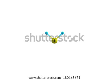 Hydrogen Sulfide Chemical Compound Formula H 2 S Stock Illustration
