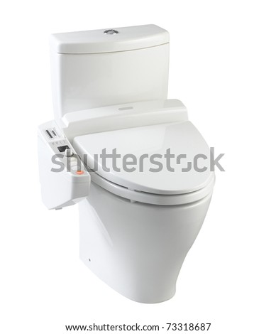 Hygienic and high technology of the  toilet bowl for your  modern bathroom - stock photo