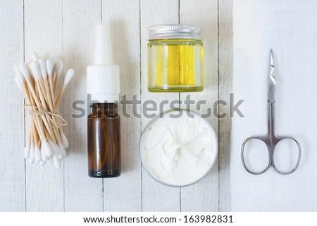 hygienic equipments  - stock photo