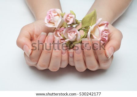 Hygienic Manicure On Natural Healthy Nails Stock Photo (Royalty Free ...