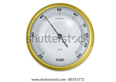 Hygrometer - stock photo