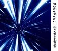 hyper space on a dark blue background - stock photo