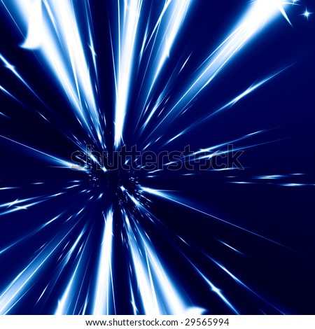 hyper space on a dark blue background
