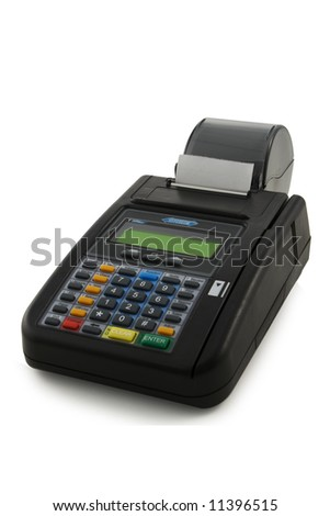 Hypercom T7plus over-counter POS - stock photo