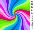 Hypnotic color swirl background. - stock photo