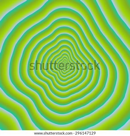 Hypnotic shapes - stock photo