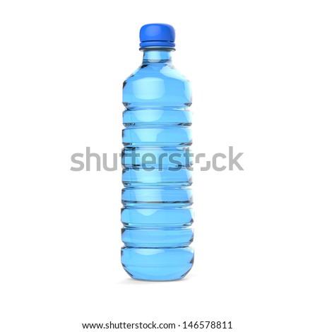 I  alphabet plastic bottle - stock photo