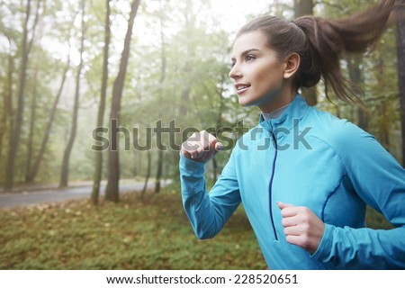 I always start a day for running   - stock photo