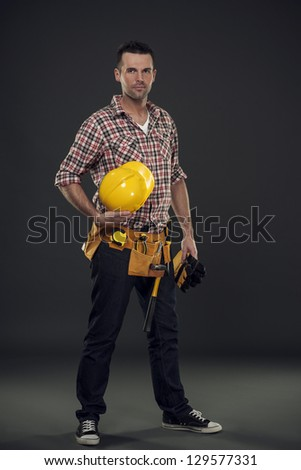 I am a professional construction worker - stock photo