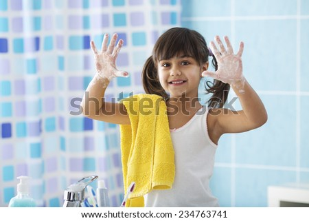 I'am Cleaning My hands with Soap... - stock photo