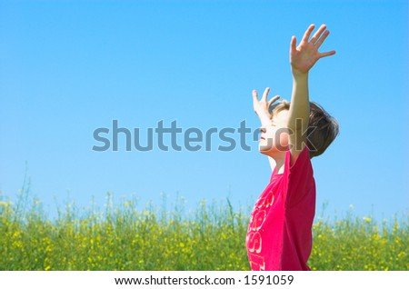 I am happy! - stock photo
