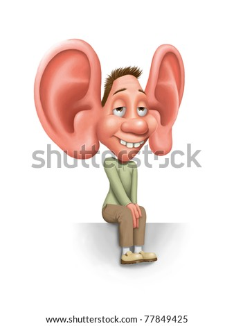 I am listening to you - stock photo