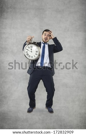 I am to late - stock photo