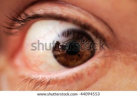 I am watching you! - stock photo