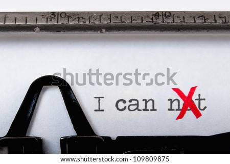 I can - stock photo