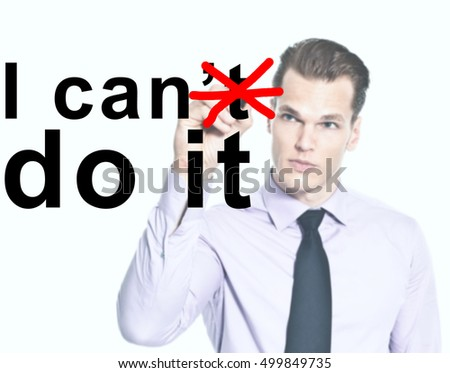 I can do it - success motivation concept - Yes you can