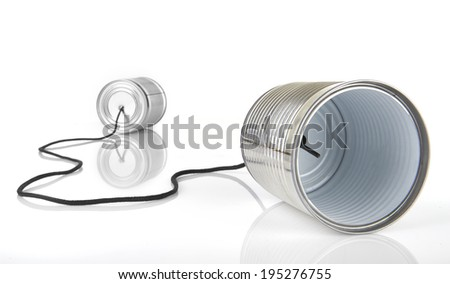 I Communication from new technology on white - stock photo