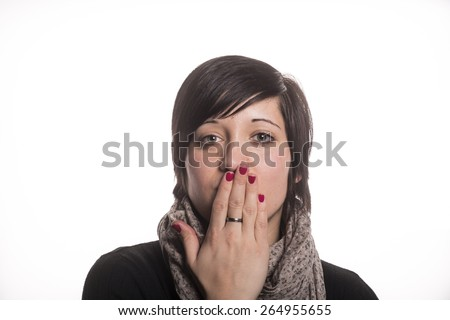 I do not speak - stock photo