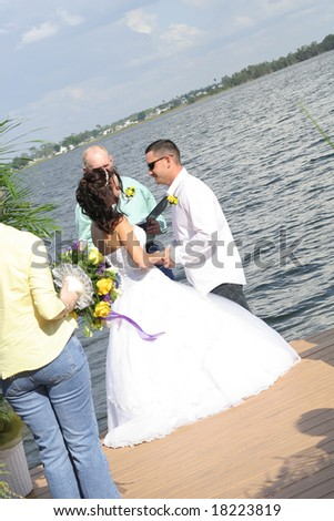 I DO on the water - stock photo