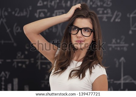 I don't know how solving mathematical equation - stock photo