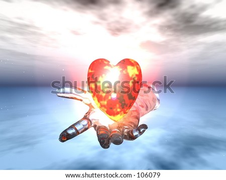 I give you my heart - stock photo