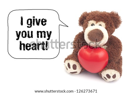 I give you my heart! - stock photo