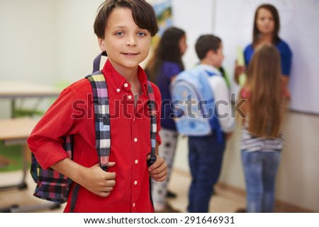 I have got best classmates in the world - stock photo