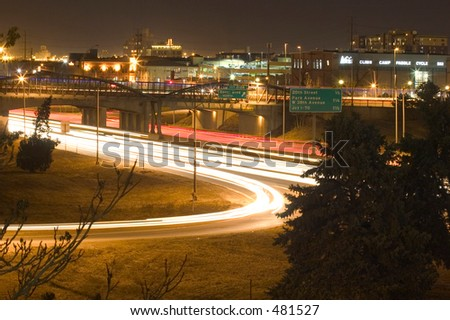 I-25 in Denver - stock photo