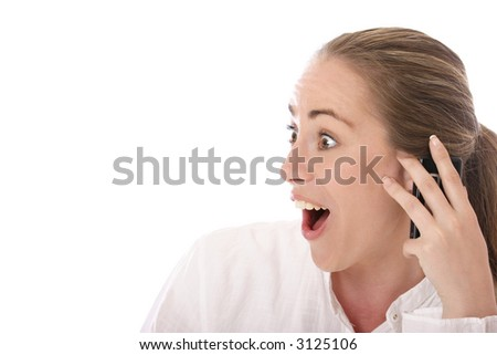 I just recieved the best news I've ever heard… - stock photo
