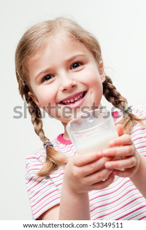 I like milk - stock photo