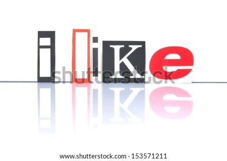I like Social Media - stock photo