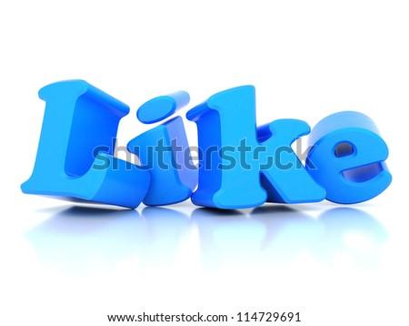 i Like symbol isolated on a white background - stock photo