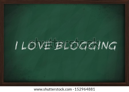 I love blogging handwritten on a chalkboard