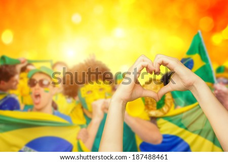 I love Brazil - stock photo