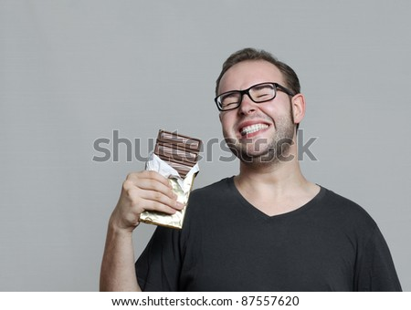 i love chocolate - stock photo